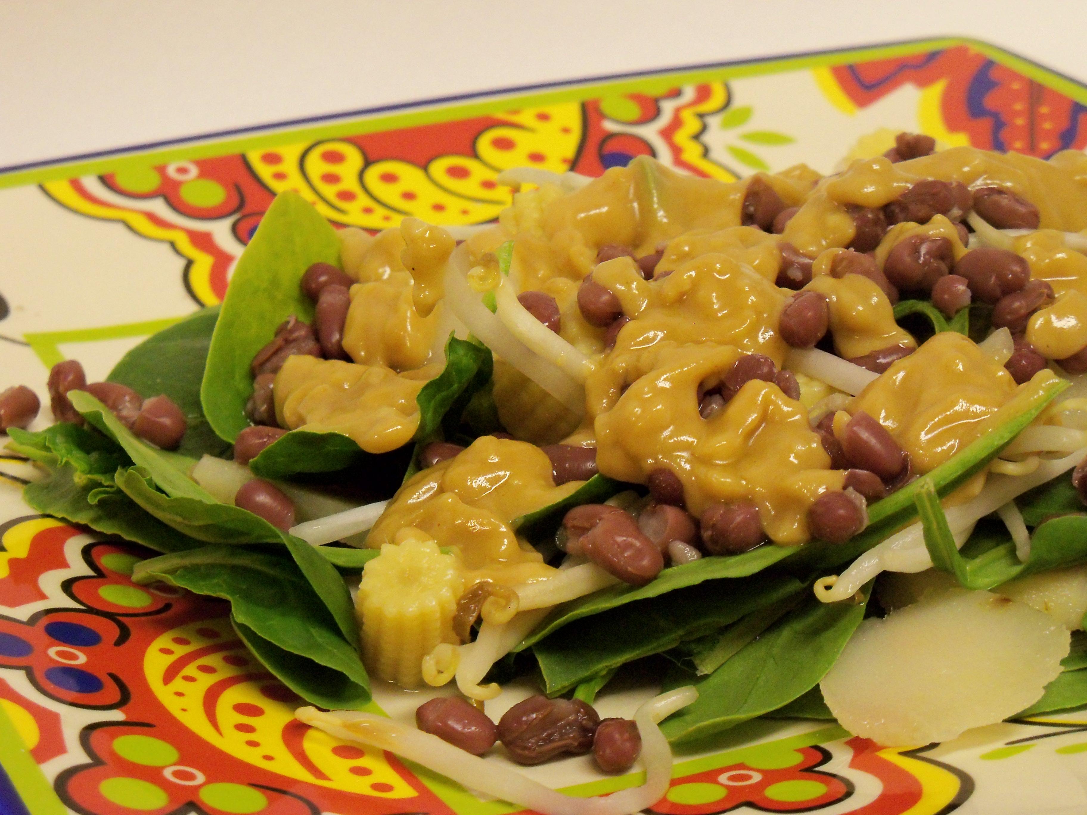 Adzuki Bean Salad with Peanut Butter Dressing