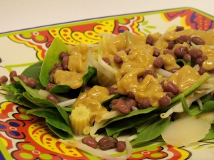 Adzuki Bean Salad with Peanut Butter Dressing