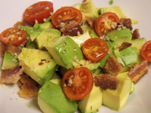 Avocado Tomato Bacon Salad