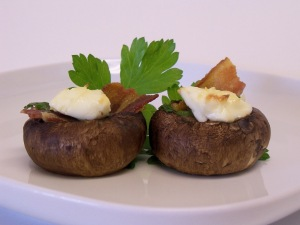 Bacon Cream Stuffed Mushrooms