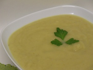 Close-up:  Roasted Creamed Parsnip Soup