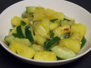 Spicy Pineapple Salad with Shrimp Paste Dressing