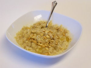 Oatmeal Made with Juice