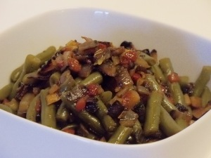 Quick Bacon & Green Beans