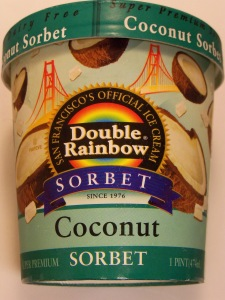 Double Rainbow Coconut Sorbet
