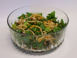 Udon Noodle Salad with Hard Cider Sesame Dressing